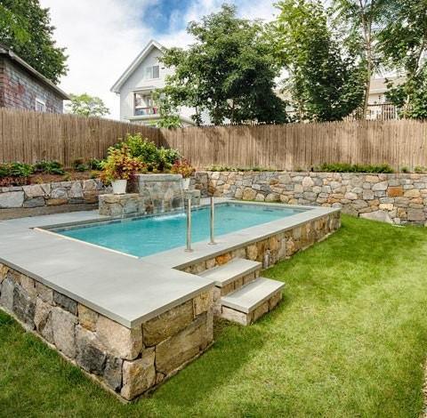 Pool plus big spa ypsilon prefabricated swimming pool for Prefab swimming pool